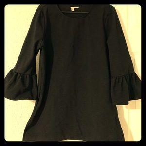 Black Mini dress with ruffle sleeves